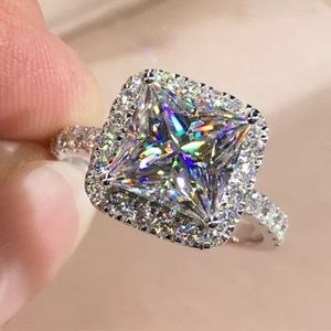 NEW Princess Cut Halo Engagement Style Ring